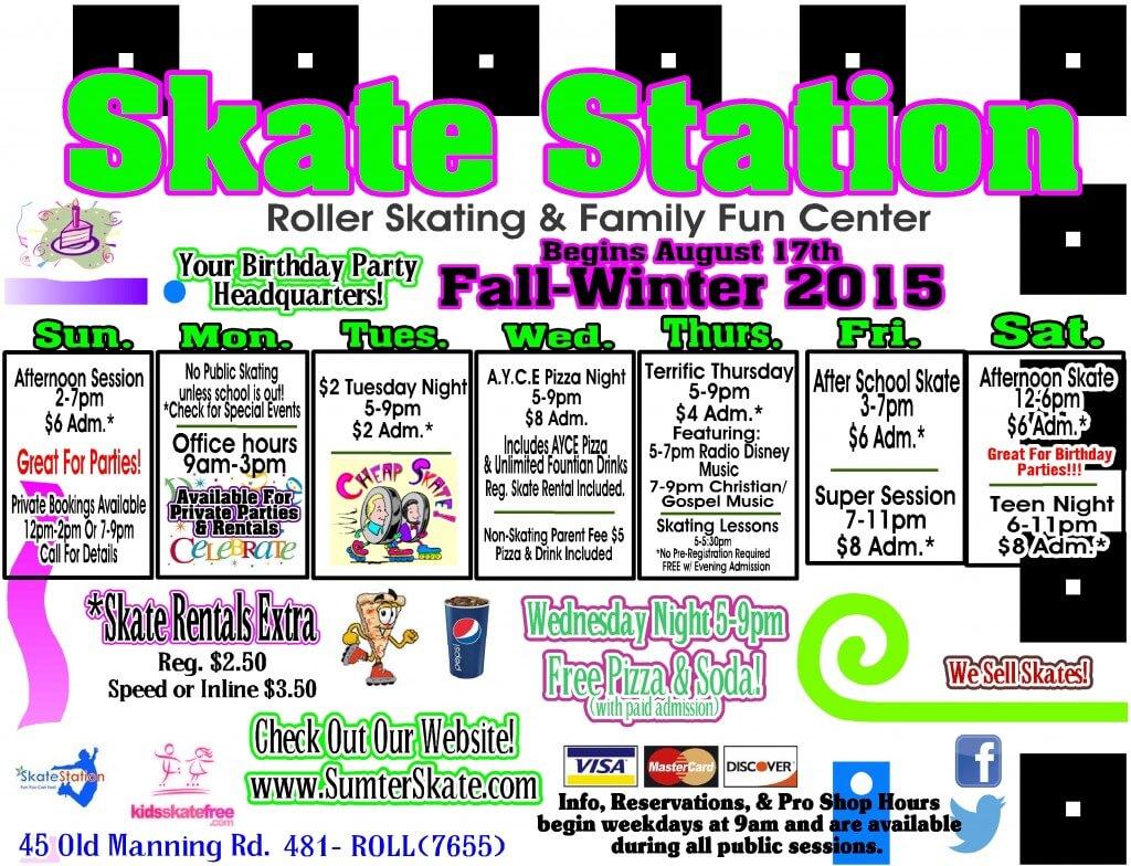 Fall and Winter 2015 calendar