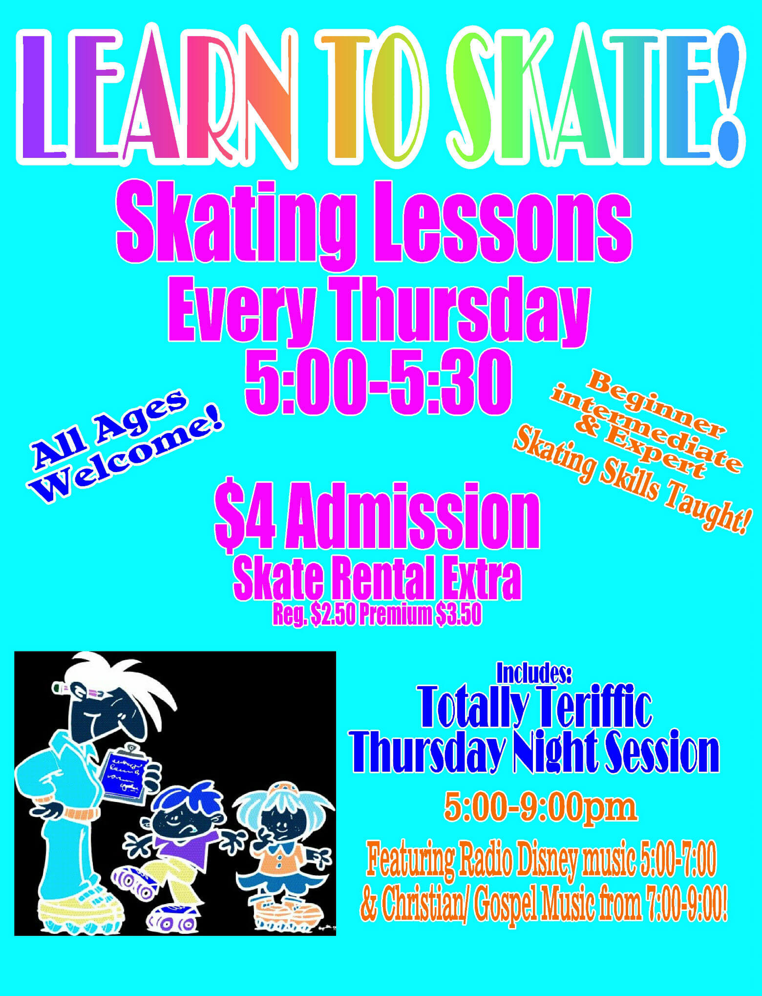 Learn to skate- website