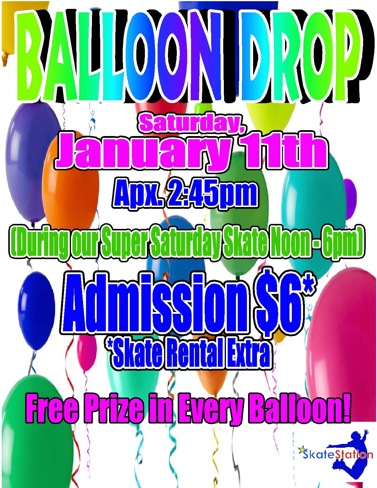 Balloon Drop Jan 2014