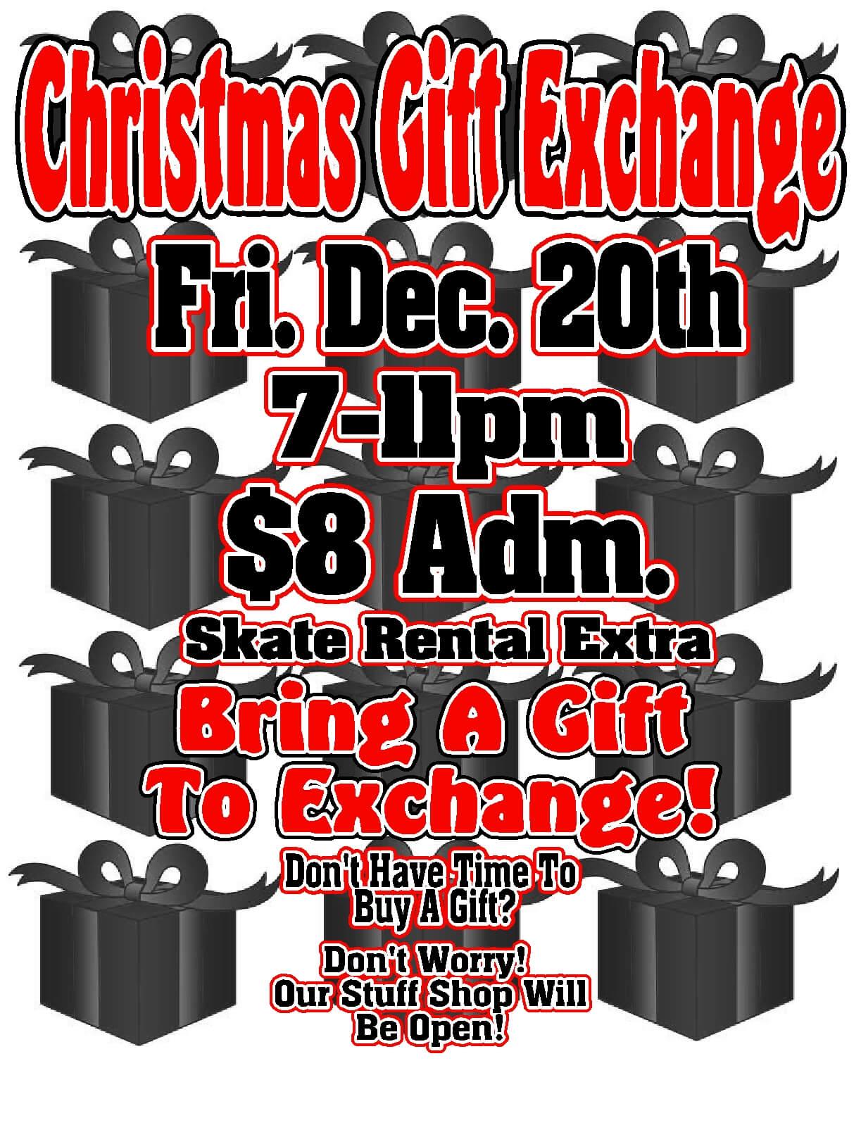 Christmas gift exchange Dec 2013