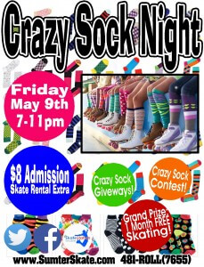 Crazy Sock Night May 2014