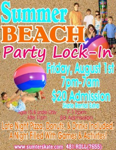 Beach Party lock in august 2014