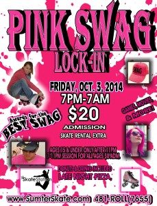 Oct 2014 pink swag lock in