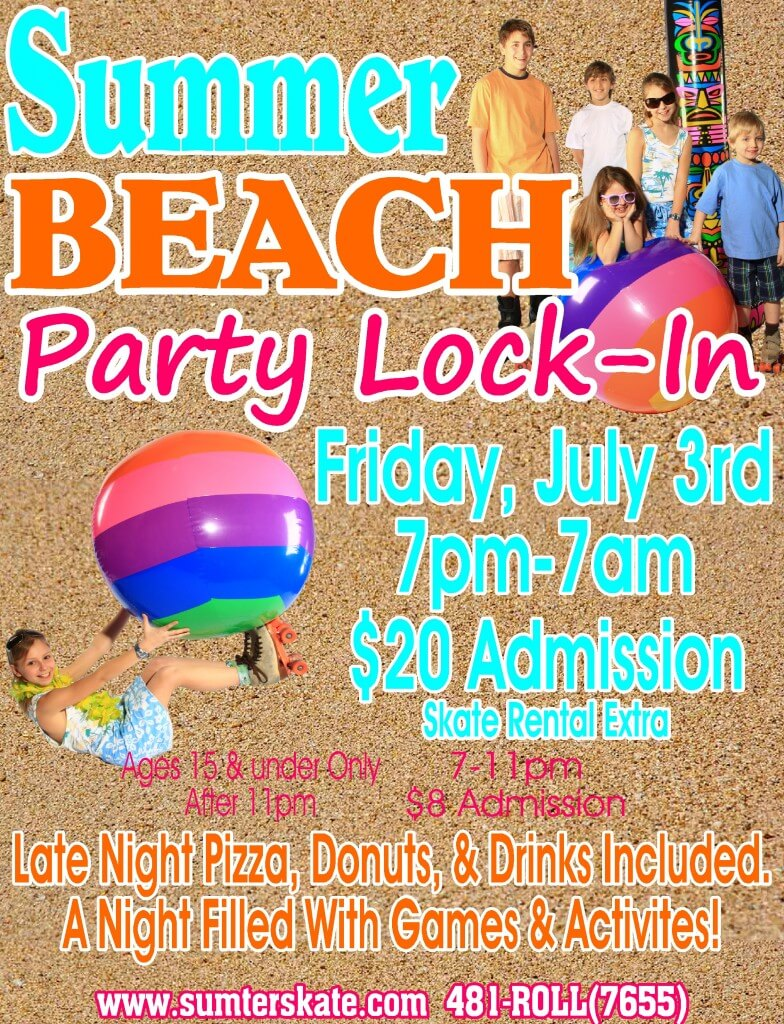 Beach Party lock in JULY 2015