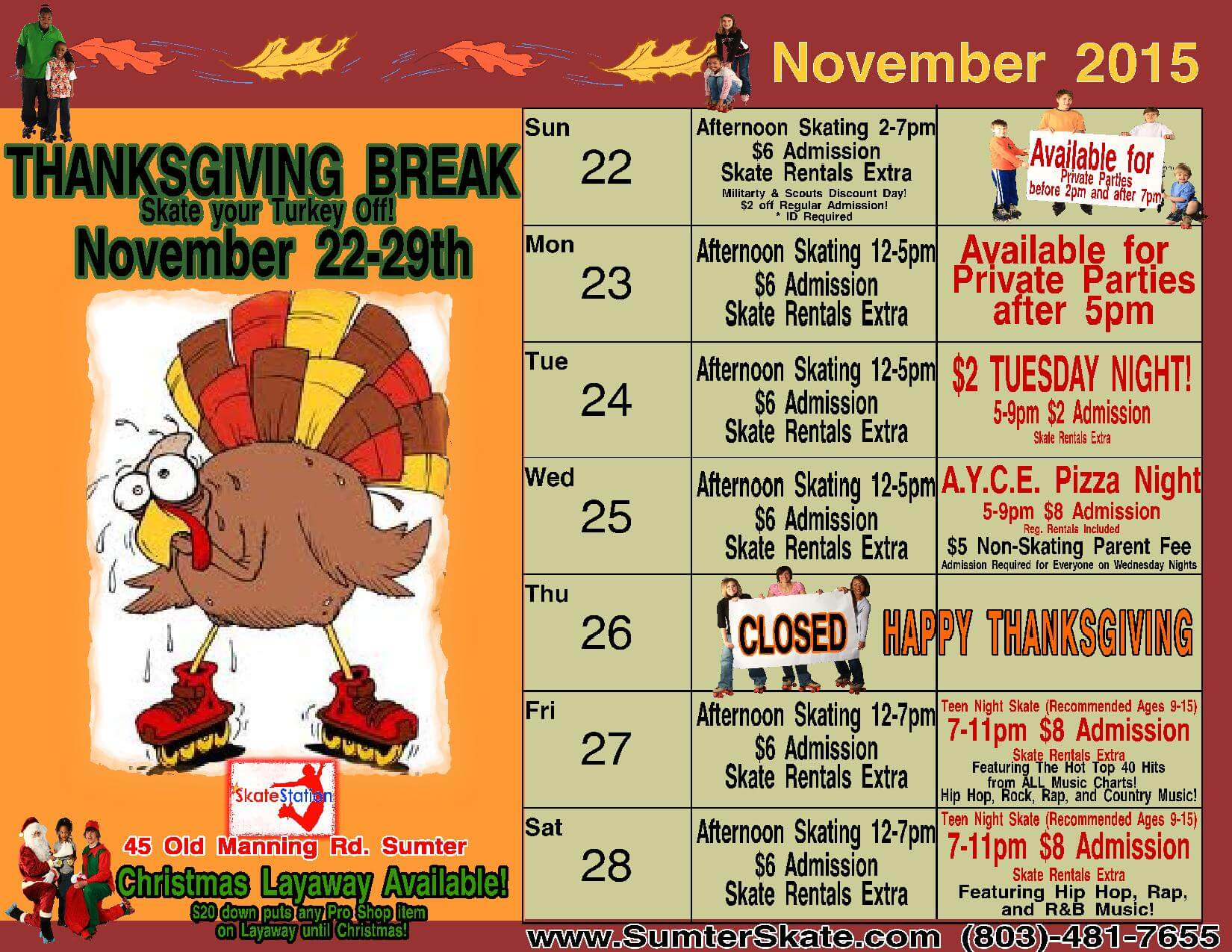 Thanksgiving dates 2015