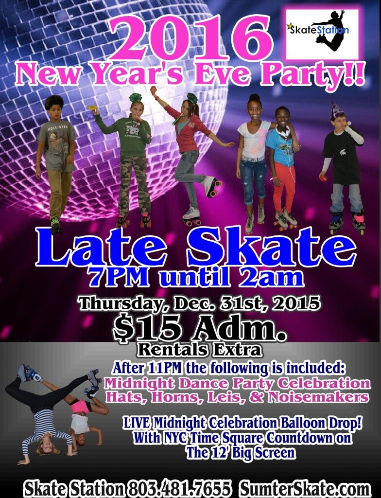 new Years eve 2015 Late Skate -
