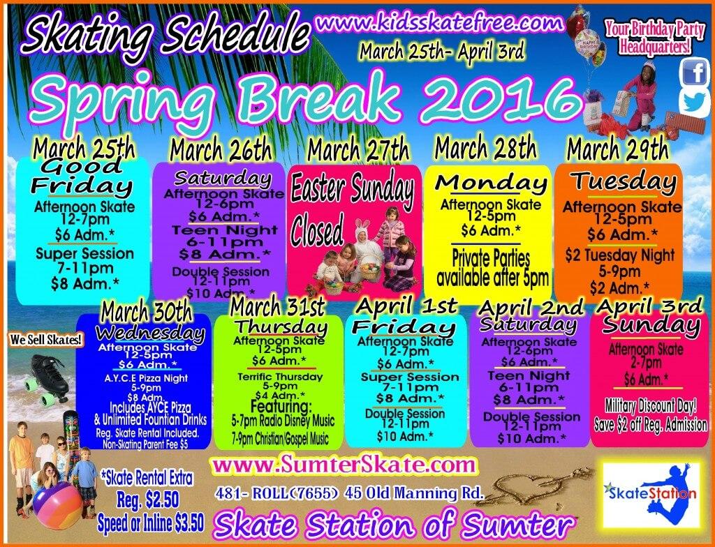 Break Schedule Templates