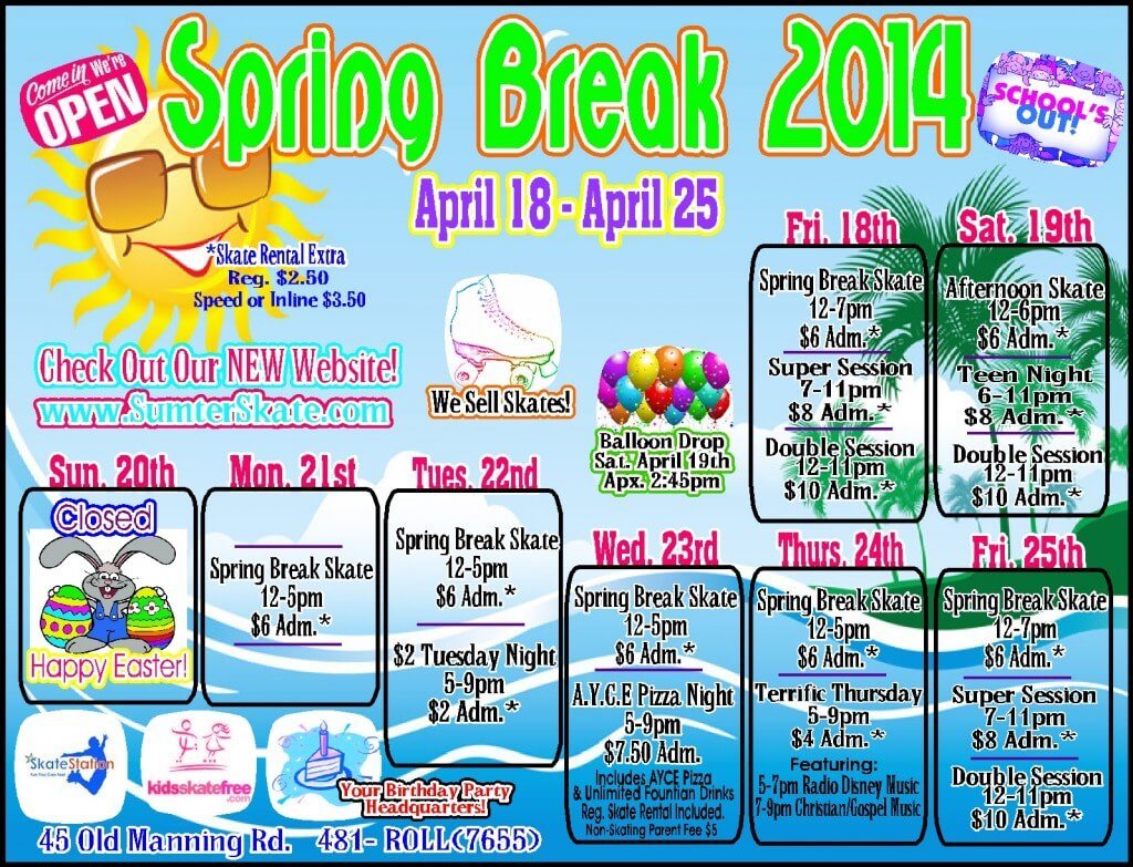 Spring Break 2014 website