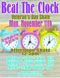 Beat the clock nov 2013 vets day