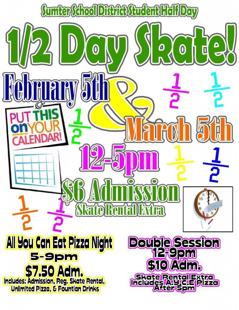 half day skate feb march 2014