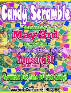 Candy Scramble may 2014
