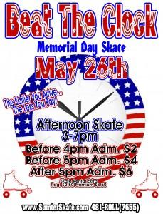 Beat the clock memorial day 201