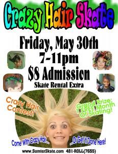 Crazy Hair Skate May 2014