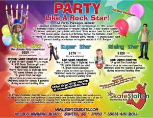 birthday party packages skate sumter